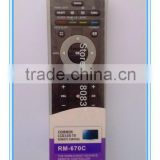 LCD/LED common tv universal remote control use for philips tv RM-L607C with single blister pack remote factory