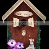 santa clausnew bird house kit/small wood crafts bird house/wooden decorated bird house with bark