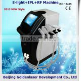2013 laser tattoo removal slimming machine cavitation E-light+IPL+RF machine sun spots treatment
