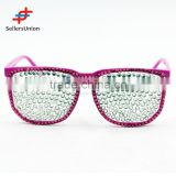 2017 hottest sale No.1 Yiwu export commission agent High quality decorative diamante glasses