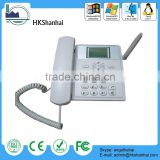 new products 2014 sim card gsm fixed wireless desktop phone / dual sim phone manufacrurer in china