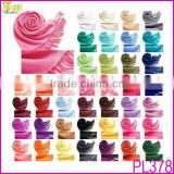 New Cheap Many Color Stock Simple Women Soft Faux Pashmina Solid Silk Feel Warm Scarf Wrap Shawl Stole