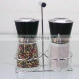 round glass pepper mill