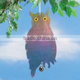 Outdoor decor reflecting guard owl,Scare Owl,Bird repel
