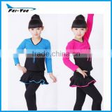 Childrens Stage Latin Salsa Ballroom Dance Dress Girls Dancewear Costumes