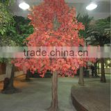 2016 hot sale artificial maple tree plastic maple flower tree