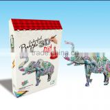 newly-developed 3D painting paper puzzle for kids LT8881A