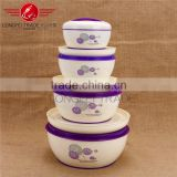 4pcs purple lunchbox steel inner / lunchbox lift pot / mess tin / bento box / tiffin pot 1.1L,1.6L,2.6L