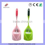 plastic curved toilet brush with holders
