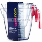 OEM Plastic Kitchen Measuring Jug Cups, cute Clear Plastic Measuring Jug Cup