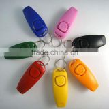 hot PET OBEDIENCE CLICK /whistle TRAINER dog cat horse bird click obedience clicker with strap