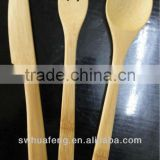 bamboo spoon fork and knife