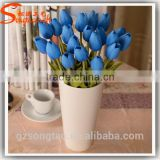 2016 Wholesale Artificial Tulip Flower Bouquet Real Touch Pu Popular Artificial Tulip For Holiday Parties