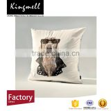 Creative dog digital printed linen throw cover sofa pillow case cover