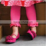 wholesale -childrens girls /kids ruffled hot pink leggings for 2013
