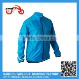 Outdoor Cheap Blue Breathable Polyester Waterproof Cycling Men Sports Jacket