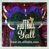 baby boys girls football t-shirt kids clothing wholesale boutique kids sport wear boy foorball yell t-shirt latest gowns designs