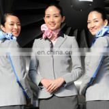 Classical fashion wool fabric for flight attendant airline staff corporate suits stewardess uniforms