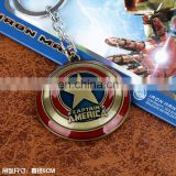 Fashion Anime Bronze The Avengers Key Chain Wholesale Fashion Cos New Hot Captain America Key Chain