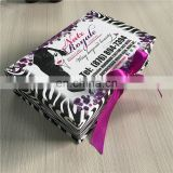 Free sample ! ! ! Special printing like zebra line rigids flat boxes for beauty hair extension ! ! !