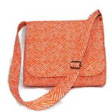 Orange messenger bag cross body bag for women