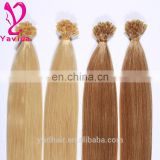 prebonded keratin brazilian flat tip hair remy hair blonde color