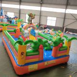 Best selling small PAW cartoon kids inflatable castle bouncer castle bouncy slides jumping house