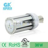 high power SMD LED chip UL TUV waterproof IP64 36w led street light/led bulb out door light garden light