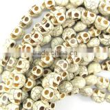 Various colors skull turquoise beads jewellery findings charms cheap price