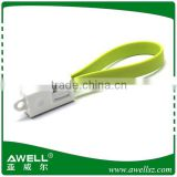 Hot sell mini bracelet usb cable for apple iphone 5 and samsung/new products for iphone cable