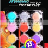 12ct*5ml Metallic Poster Paint A0259