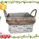 willow garden tool wholesale, garden flower pot, plant pot, garden flower basket with iron bucket inside