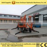 16m 200kg JINCHUAN self-propelled hydraulic boom lift diesel engine power lift platform Hydraulic manual lift