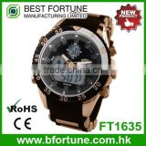 FT1635 New product royal rose gold with digital movement big face watch
