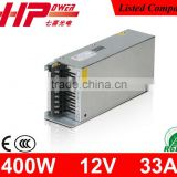 Factory hot sell cctv monitoring camera use single output constant voltage 12v 400w switch mode power supply