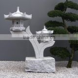 New Product Japanese Style Outdoor Stone Finish Pagoda Lantern