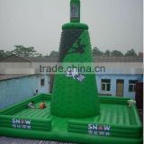 adult Inflatable kids climbing wall/inflatable sport