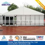 Shanghai Shelter Aluminum alloy(4 channels) hard PVC wall pop up tent for sale with high quality