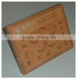 Luxury souvenirs antique wooden coin box