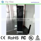 21.5 inch brochure holder standalone floor standing touch kiosk digital signage , standing advertising display panel