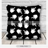 hot custom fashion color emoji design 3d digital print pillowcases fullprint decorative throw pillow covers seat cushion Cover