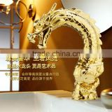 High Quality Brass Artistic Dragon Faucet, Single Handle Gold Dragon Faucet, Best Sell Item                                                                         Quality Choice