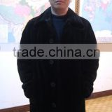 MK14015 black mink fur coat for men