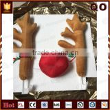Import from China color customized reindeer antlers and nose Christmas car antlers