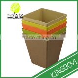 Promotional Flower Planter Factory direct sales environment protection bamboo fibre plant pots
