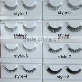 Private label service human hair strip lashes