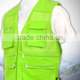 Fluorescent fly fishing vest for men
