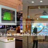 Holographic screen film with high contrats high definition transparent rear projection screen