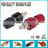 large nickel plated steel binding post for female banana plug jack