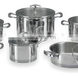 12pcs set 555 stainless steel cookware stock pot and pan